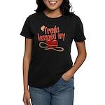 Travis Lassoed My Heart Women's Dark T-Shirt