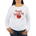 Travis Lassoed My Heart Women's Long Sleeve T-Shir