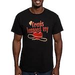 Travis Lassoed My Heart Men's Fitted T-Shirt (dark