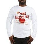 Travis Lassoed My Heart Long Sleeve T-Shirt