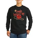 Travis Lassoed My Heart Long Sleeve Dark T-Shirt