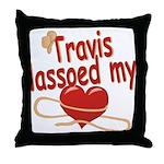 Travis Lassoed My Heart Throw Pillow
