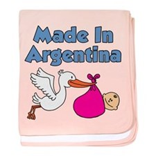 Made In Argentina Girl baby blanket