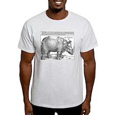 Durer Rhino Ash Grey T-Shirt