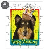 Birthday Cupcake - Collie Puzzle