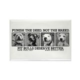 Funny Anti pitbull Rectangle Magnet