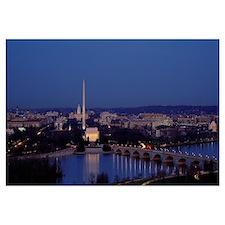 Bridge Over A River, Washington Monument, Washingt