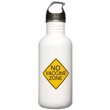 No Vaccine Zone by Tigana Water Bottle