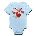 Tristan Lassoed My Heart Infant Bodysuit