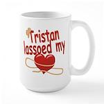Tristan Lassoed My Heart Large Mug
