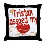 Tristan Lassoed My Heart Throw Pillow