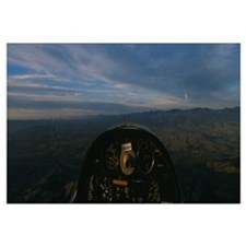 Cockpit of a glider during a ride, Santa Ynez Vall