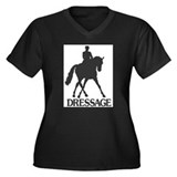 Horse Women's Plus Size V-Neck Dark T-Shirt