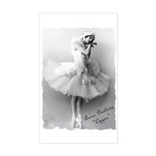 "Anna Pavlova, ""Cygne"" Rectangle Decal"