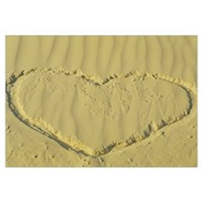 Heart drawn in sand, Taos, Taos County, New Mexico