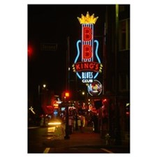 Neon sign lit up at night, B. B. Kings Blues Club,