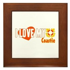 I Love My Coastie Framed Tile