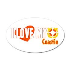 I Love My Coastie 22x14 Oval Wall Peel