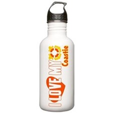 I Love My Coastie Sports Water Bottle