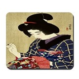Woman Sewing Mousepad