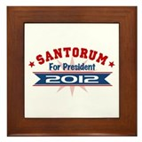 Rick Santorum President 2012 Framed Tile