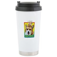 Birthday Cupcake - Corgi Ceramic Travel Mug