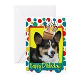 Birthday Cupcake - Corgi Greeting Cards (Pk of 10)