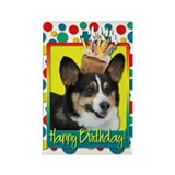 Birthday Cupcake - Corgi Rectangle Magnet (10 pack