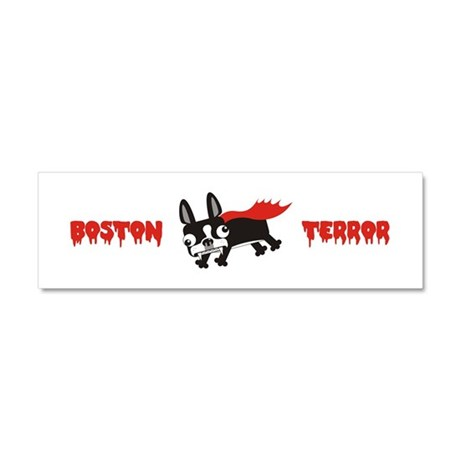 Boston Terror Car Magnet 10 x 3