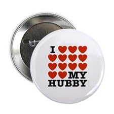"I Love My Hubby 2.25"" Button"
