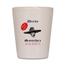 Dirty Sanchez Mexican Beer Shot Glass