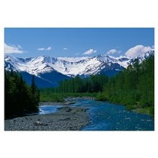 Chugach Mountains, running stream, summer, Alaska