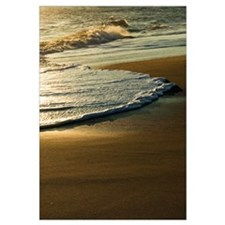Surf on sandy beach, sunrise light, Outer Banks, N