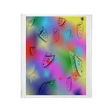 Masks on Rainbow Colors Throw Blanket