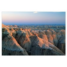 Badlands rock formations, Sage Creek Wilderness Ar