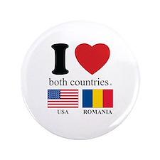 """USA-ROMANIA 3.5"""" Button"""