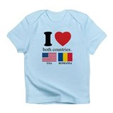 USA-ROMANIA Infant T-Shirt