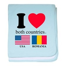USA-ROMANIA baby blanket