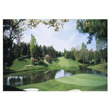 Lake on a golf course, Congressional Country Club,