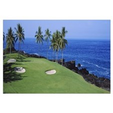 Golf course at the oceanside, Kona Country Club Oc