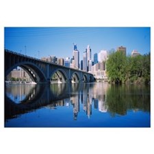 Arch bridge across a river, Minneapolis, Hennepin