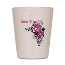 Biker Bride Shot Glass