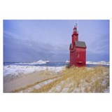 Lighthouse at the lakeside, Lake Michigan, Holland