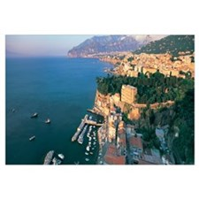 Town at the coast, Sorrento, Naples, Campania, Ita