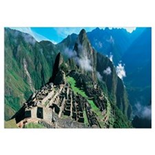 Ruins of ancient buildings, Inca Ruins, Machu Picc