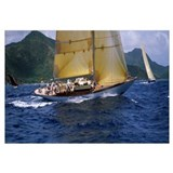 Yacht racing in the sea, Antigua, Antigua and Barb