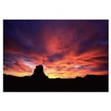 Buttes at sunset, Chaco Culture National Historic