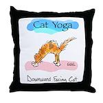 Cat Yoga Throw Pillow