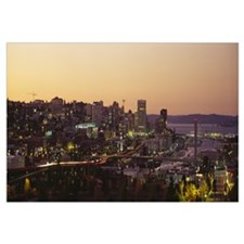 Aerial view of a cityscape, Tacoma, Pierce County,