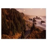 Highway along a coast, Highway 101, Pacific Coastl
